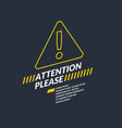 a warning sign informational poster vector image