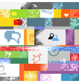 Abstract pixel art color background vector image vector image