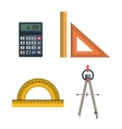 architecture tools design vector image