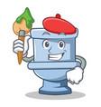 artist toilet character cartoon style vector image