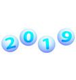 balls 2019 lettering vector image vector image
