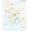 bangladesch road map vector image vector image
