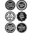 black and white vintage labels collection 4 vector image vector image