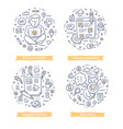 blogging doodle vector image vector image