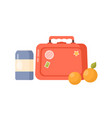 bright cartoon childish lunch box storage case and vector image