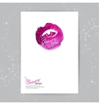 Brochure template with beauty salon logo vector image