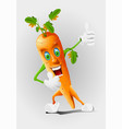 cartoon carrot eps 10 vector image vector image