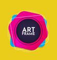 colorful art frame modern vector image vector image