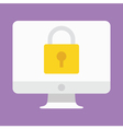 Computer Display Security Icon vector image