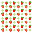 cute fruits background pattern vector image vector image