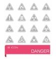 Danger icon set vector image vector image