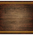 Dark Wood Texture With Rope vector image vector image