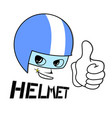 draw of face with helmet protection vector image vector image