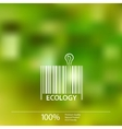 Ecology barcode symbol on blurry background vector image