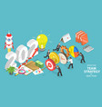effective team strategy for new 2021 year vector image vector image