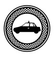emblem taxi side car icon vector image vector image