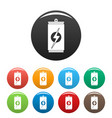 energy drink icons set color vector image