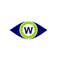 eye care solutions letter w vector image