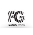fg f g lines letter design with creative elegant vector image vector image