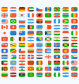 flag world icons set vector image vector image