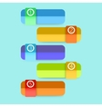 flat colorful step step infographics eps10 vector image