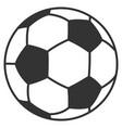 football ball flat icon vector image vector image