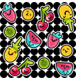 fruits seamless color pattern vector image