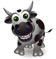 funny cow cartoon vector image
