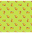 funny doodle toy bird seamless pattern vector image