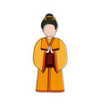 geisha japan related icon image vector image