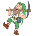 Gnome with pickaxe and lantern vector image vector image