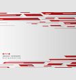 gradient red grid line pattern technology vector image vector image