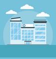 hospital building cartoon vector image vector image