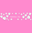 image banner white hearts on a pink background vector image
