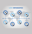 infographic design with love icons vector image