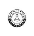 initial letter a anchor badge seal logo design vector image