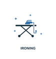 ironing icon creative two colors design from vector image vector image