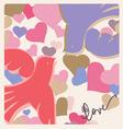 Kissing birds valentine poster