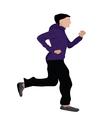 Man Jogging vector image vector image