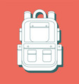 monochrome silhouette of backpack icon stylized vector image vector image