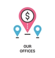 our offices icon concept vector image vector image