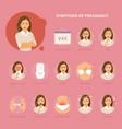 pregnancy symptoms vector image vector image