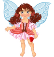Pretty fairyl girl with magick wand vector image vector image