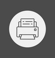 printer icon sign symbol vector image vector image