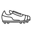 referee boot icon outline soccer coach vector image vector image