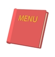 Restaurant menu cartoon icon vector image