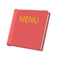 Restaurant menu cartoon icon vector image vector image