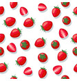 seamless pattern strawberry vector image