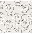 Seamless sheep sketch vector image