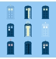 Set of British Police Boxes Icons telephone in vector image vector image